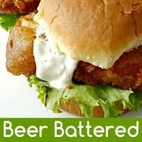 Beer Battered Fish Sandwiches for Two