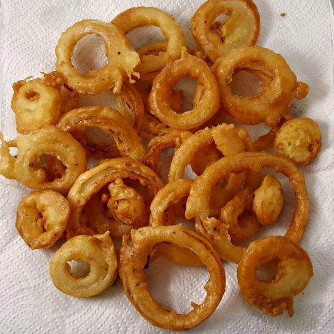 Beer Battered Onion Rings Small Batch Serves 2