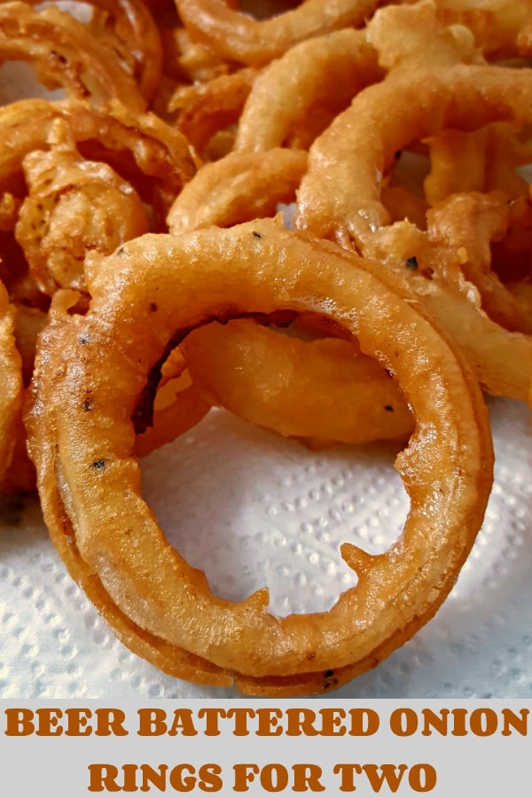 Beer Battered Onion Rings Small Batch Recipe for Two