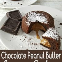 Chocolate Peanut Butter Lava Cakes Recipe for Two