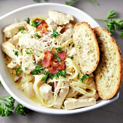 Classic Chicken Carbonara Recipe serves 2