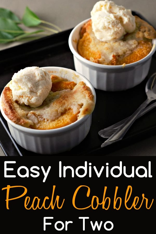 Easy Individual Peach Cobbler Recipe for Two