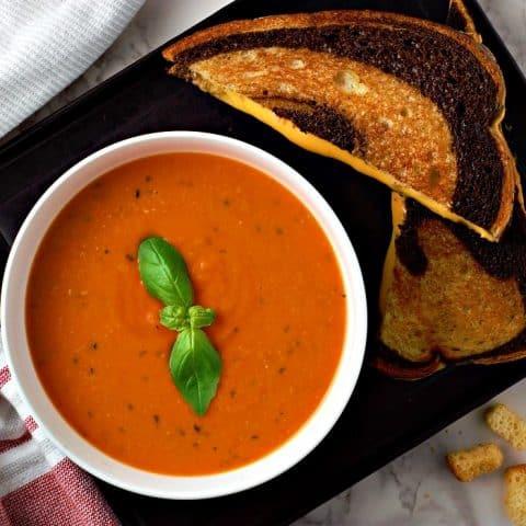 Homemade Garden Fresh Tomato Soup serves 2