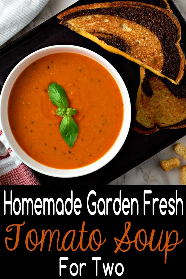 Homemade Garden Fresh Tomato Soup Recipe for Two