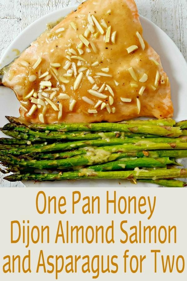 Honey Dijon Almond Salmon and Asparagus Recipe for Two