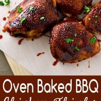 Oven Baked BBQ Chicken Thighs Recipe for Two