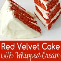 Red Velvet Cake and Whipped Cream Cheese Frosting for Two