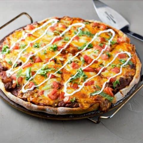 Enchilada Pizza Recipe serves 2