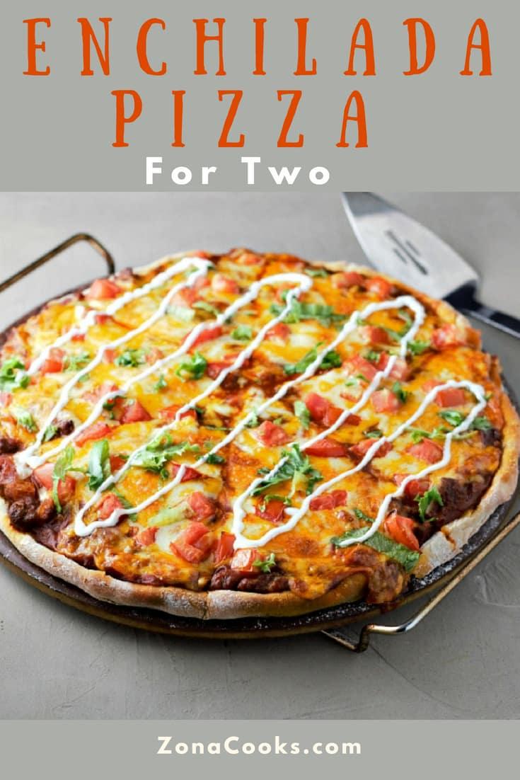 Enchilada Pizza Recipe for Two