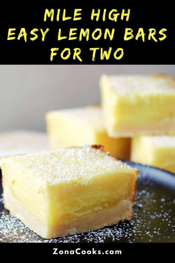 Mile High Easy Lemon Bars Recipe for Two
