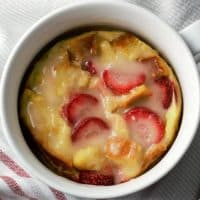 Strawberries and Cream Bread Pudding