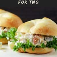 Swiss Cheese Chicken Salad Sandwiches for Two