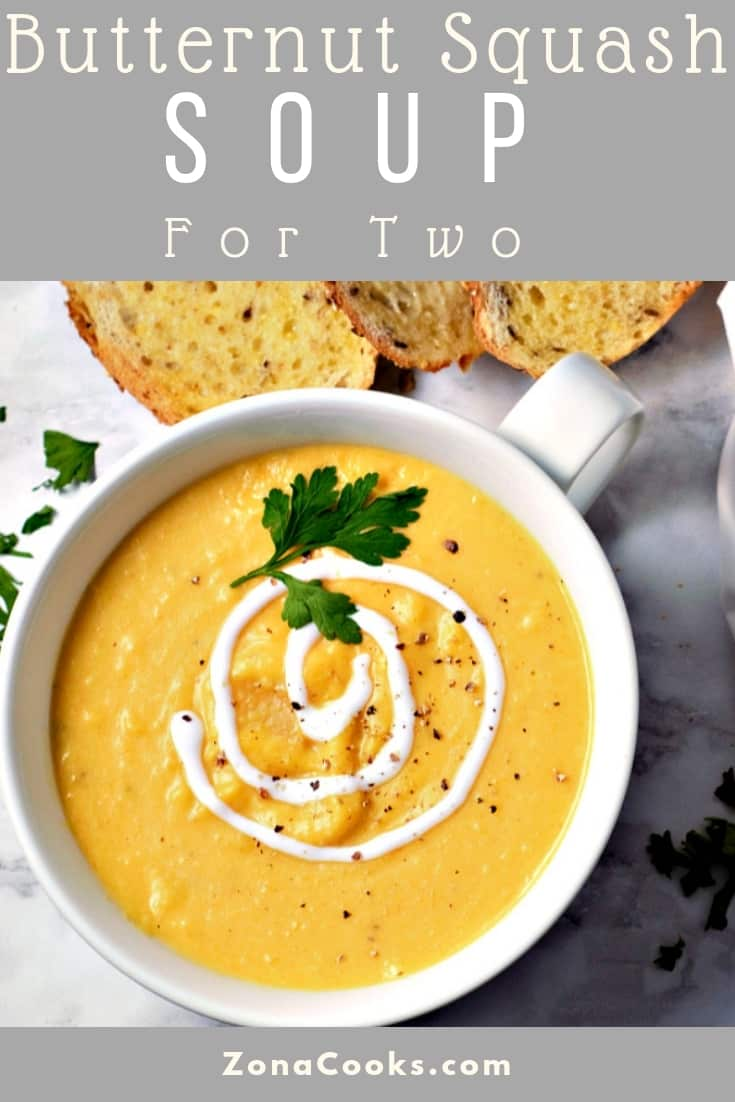Easy Butternut Squash Soup Recipe for Two