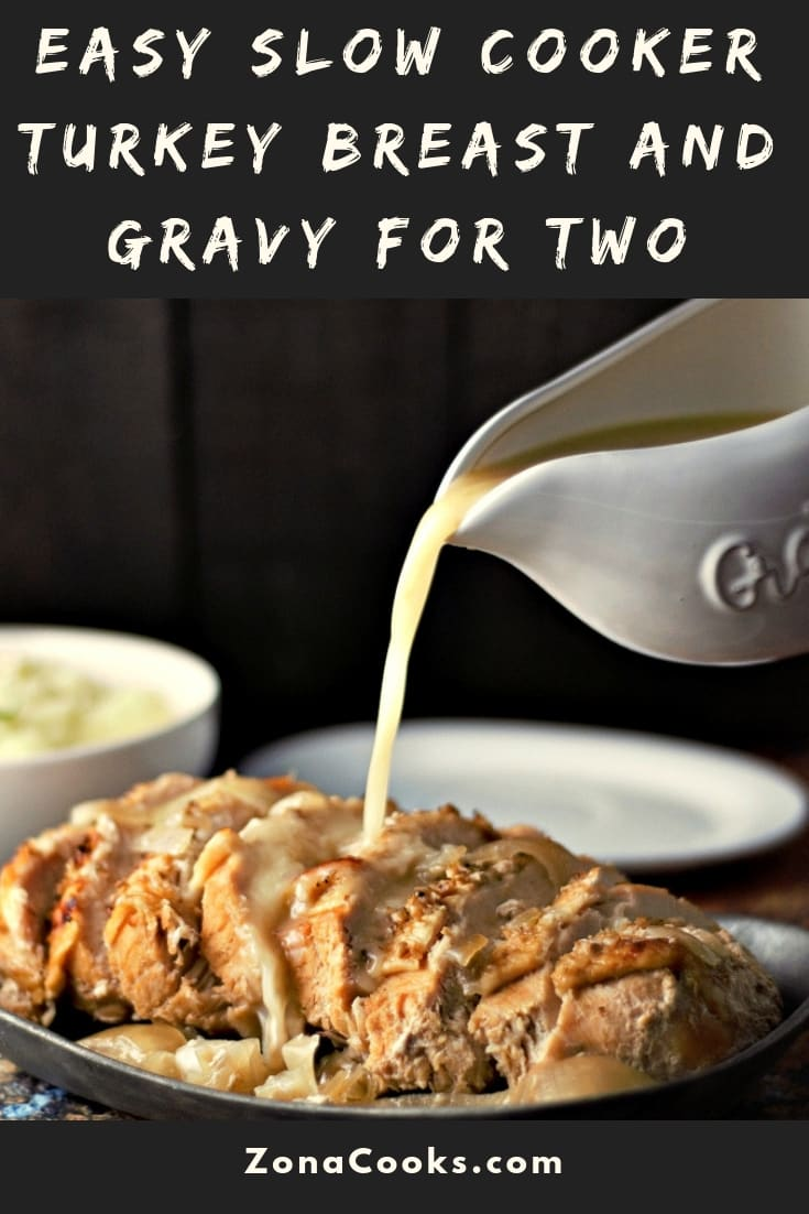 Easy Slow Cooker Turkey Breast and Gravy dinner Recipe for two