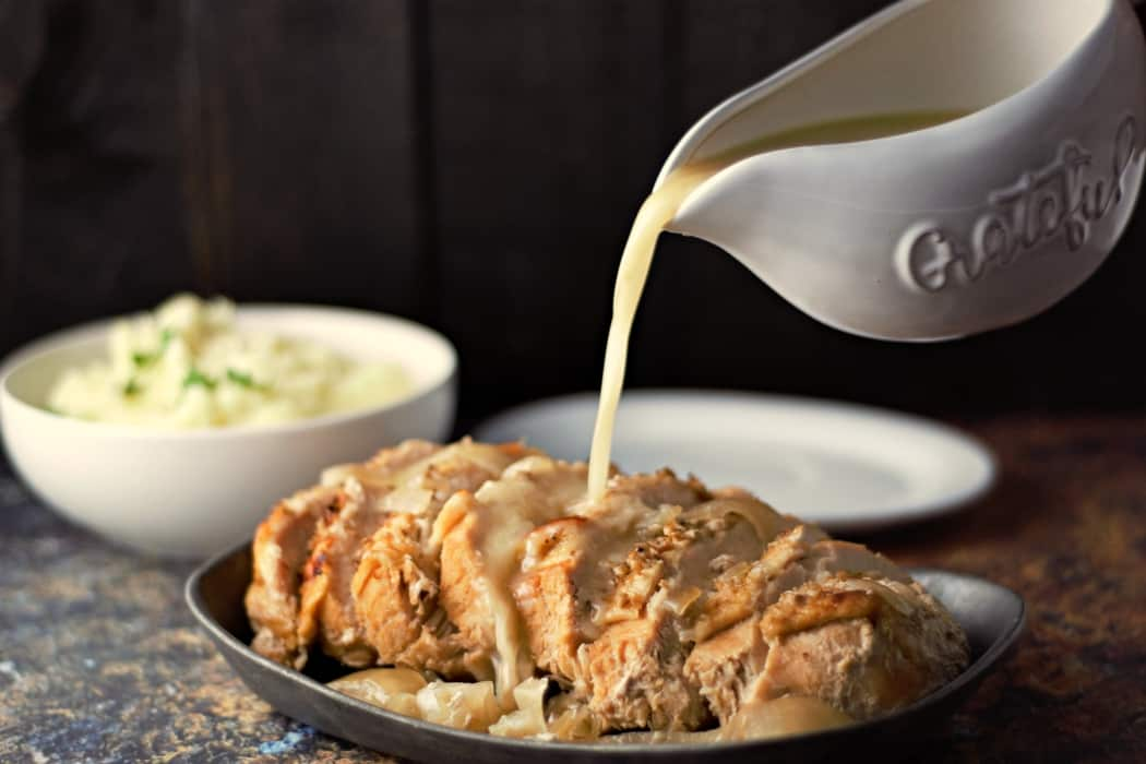 Easy Slow Cooker Turkey Breast and Gravy Recipe serves 2