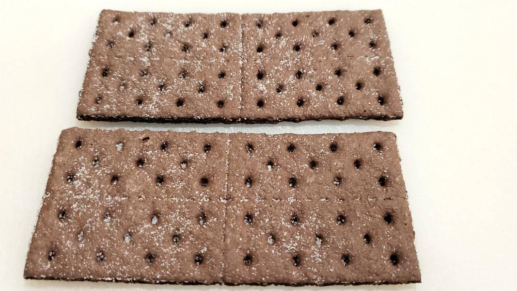 two chocolate graham crackers