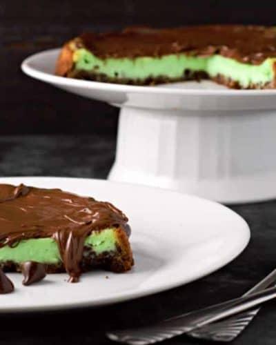 Mint Chocolate Cheesecake Tart