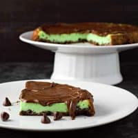 Mint Chocolate Cheesecake Tart