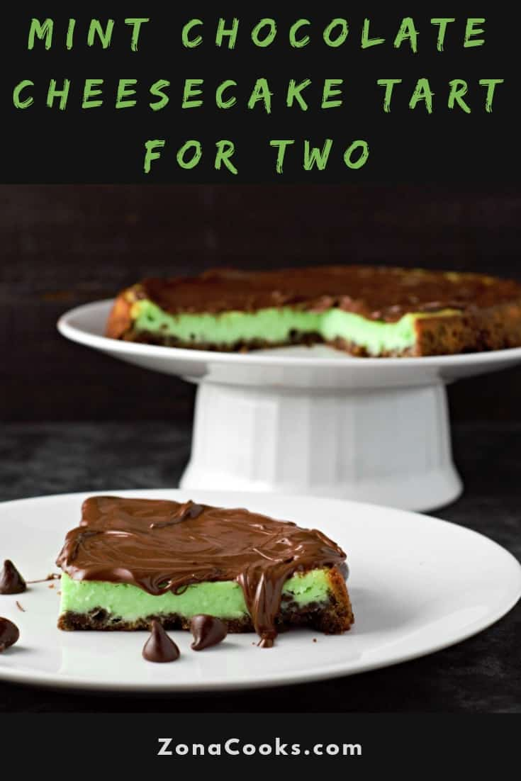 Mint Chocolate Cheesecake Tart Recipe for Two