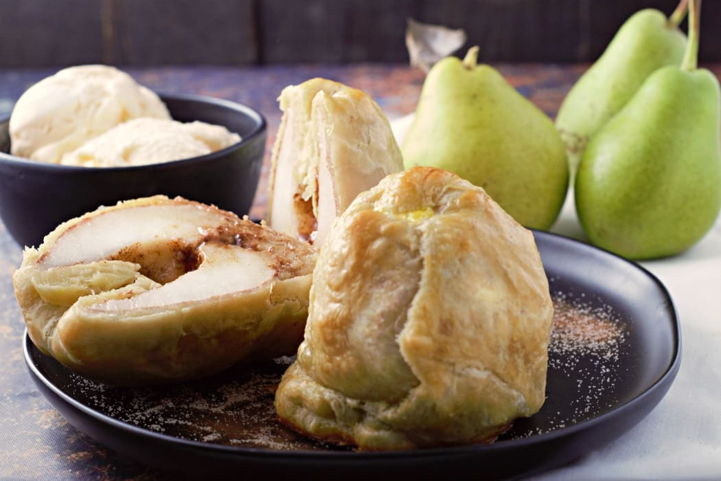 Puff Pastry Cinnamon Baked Pears Recipe