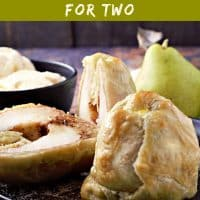 Puff Pastry Cinnamon Baked Pears Recipe for Two