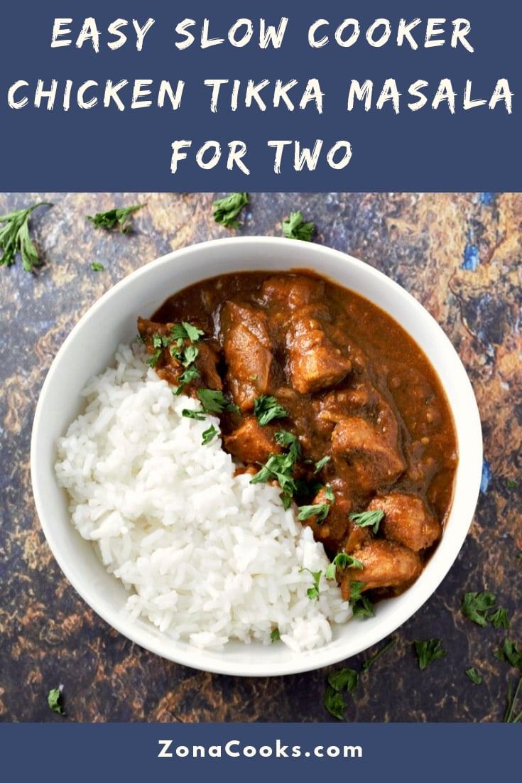 Slow Cooker Crockpot Chicken Tikka Masala Recipe for Two