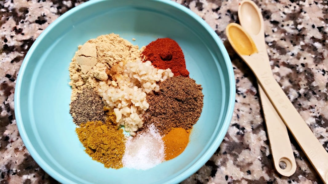garlic and spices in a bowl