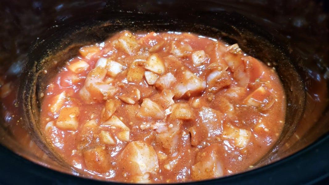 chicken tikka masala in a crockpot