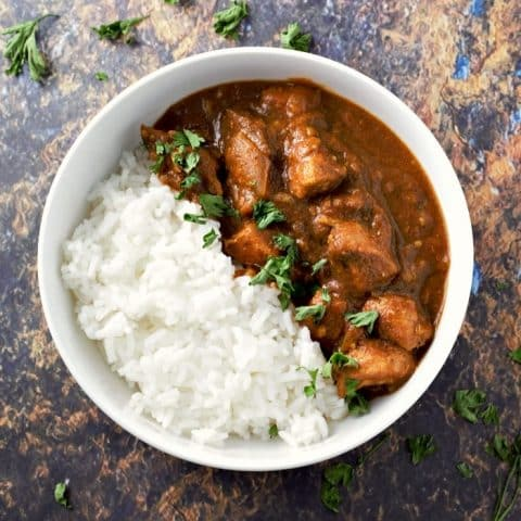 Slow Cooker Crockpot Chicken Tikka Masala Recipe serves 2