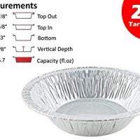 "Durable Packaging 4-7/8"" Foil Tart Pan (Durable 5"" #2200) - Mini Aluminum Pot Pie Baking Plate Tin (pack of 25)"