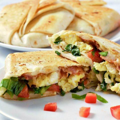 Breakfast Crunchwraps Recipe serves 2