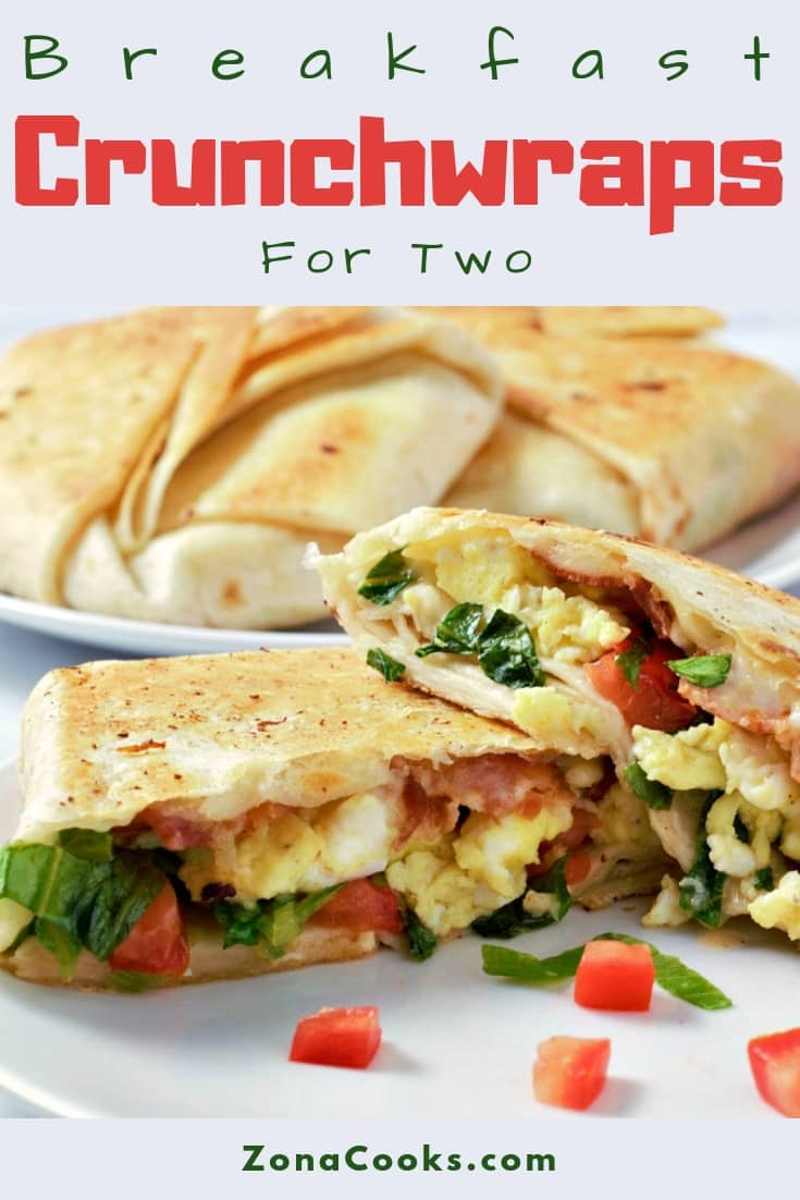 Breakfast Crunchwraps Recipe for Two