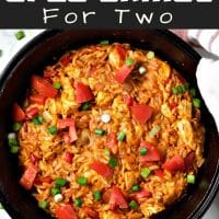 Chicken Taco Orzo Skillet Recipe for Two