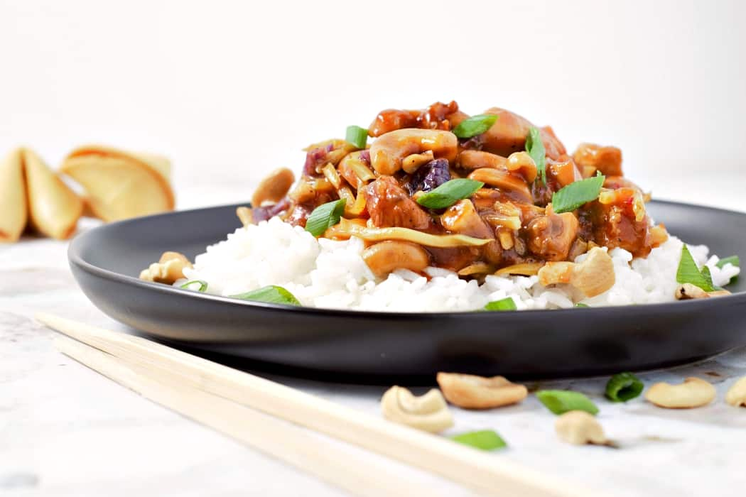 Easy Crockpot Cashew Chicken