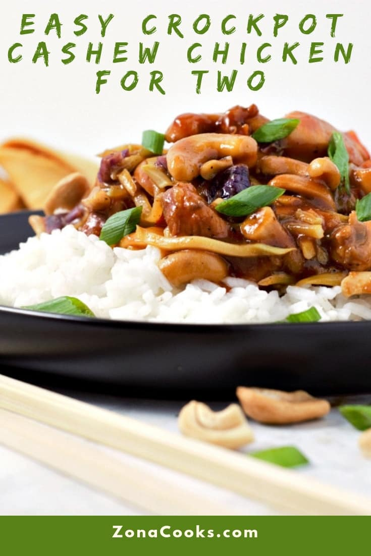 Easy Crockpot Cashew Chicken Recipe for Two