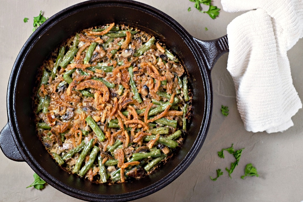 Homemade Creamy Green Bean Casserole