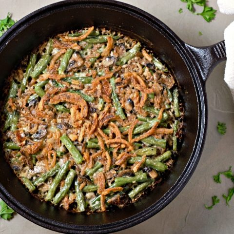 Homemade Creamy Green Bean Casserole Recipe serves 2