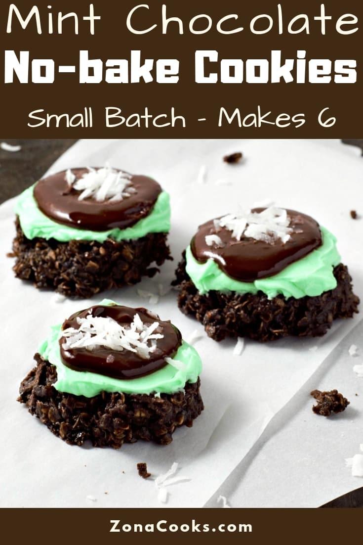 Mint Chocolate No-bake Cookies Small Batch Recipe