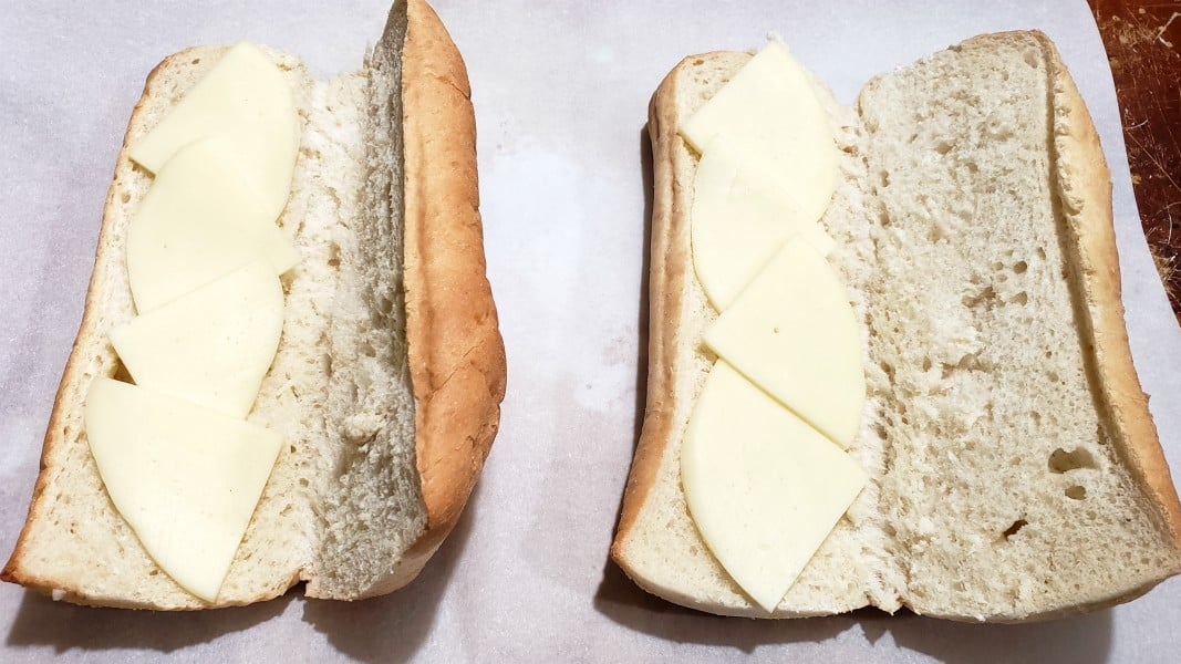sub bun with provolone cheese