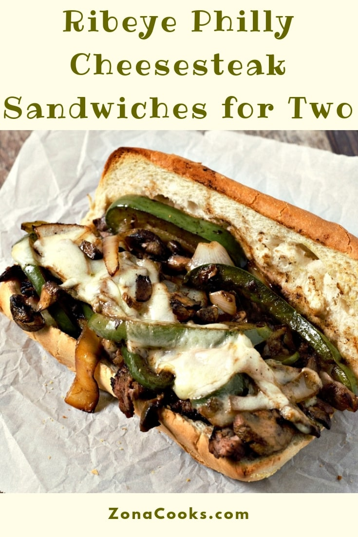 Ribeye Philly Cheesesteak Sandwiches Recipe for Two