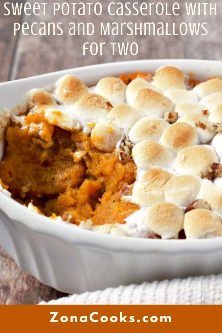 Sweet Potato Casserole with Pecans and Marshmallows Recipe for Two