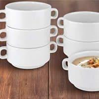 KOVOT Set of Porcelain Stackable 20-Ounce Bowls (6 Bowls)