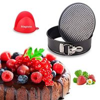 Springform Pan 7-inch Cheesecake Mold - for Instant Pot Accessories | Non-stick Leakproof Round Cake Pan Pressure Cooker Ultra Instapot 5 6 8 9qt with Mitt