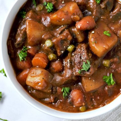 Crockpot Beef Stew Recipe serves 2