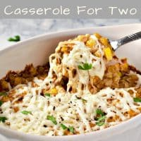 Mexican Street Corn Casserole Recipe for Two