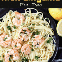 Shrimp Scampi with Linguine Recipe for Two