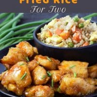 Baked Sweet and Sour Chicken with Homemade Fried Rice for Two