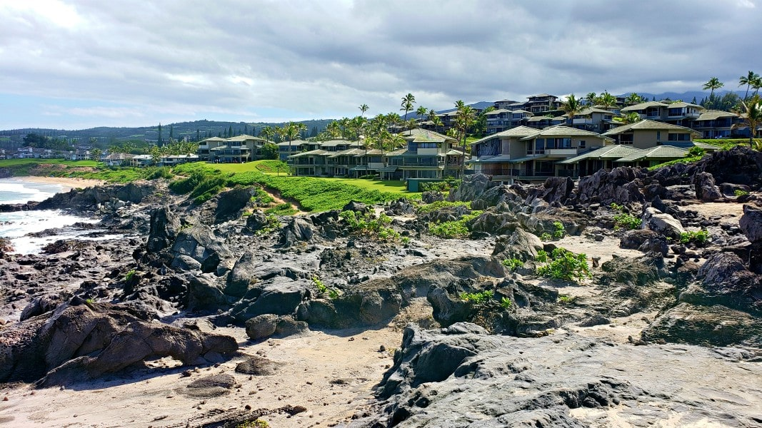 condos along the Kapalua Coastal Trail