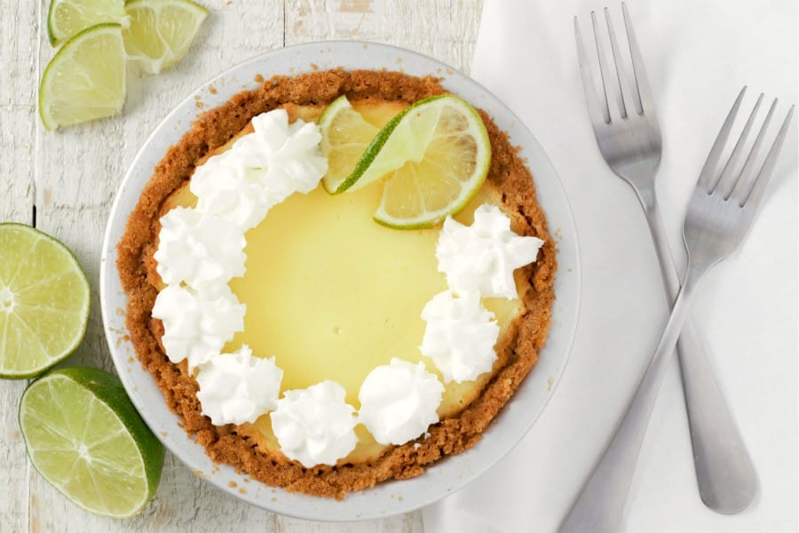 Easy Key Lime Pie serves 2