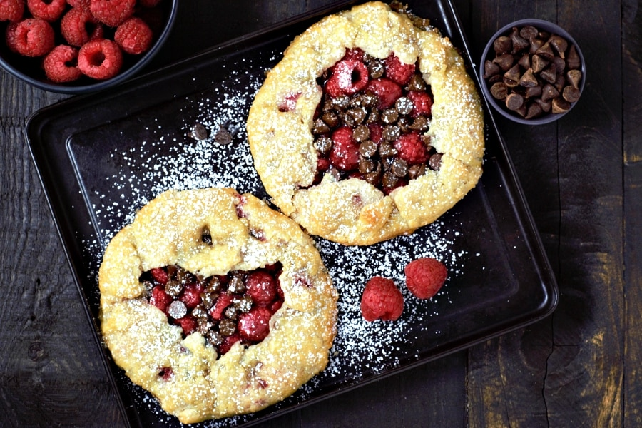 Individual Chocolate Raspberry Galettes